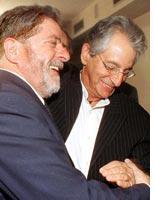 Fernando Gabeira (R) hugging the current Brazilian president Luiz Inacio Lula da Silva. Click image to expand.