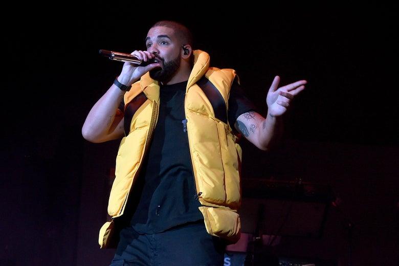 Drake performing at Coachella in 2017.