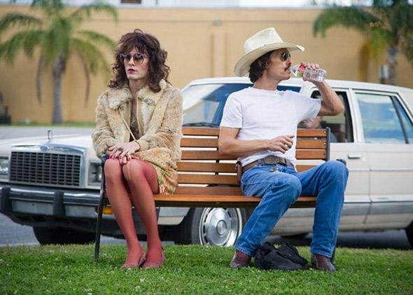Matthew McConaughey and Jared Leto in Dallas Buyers Club.