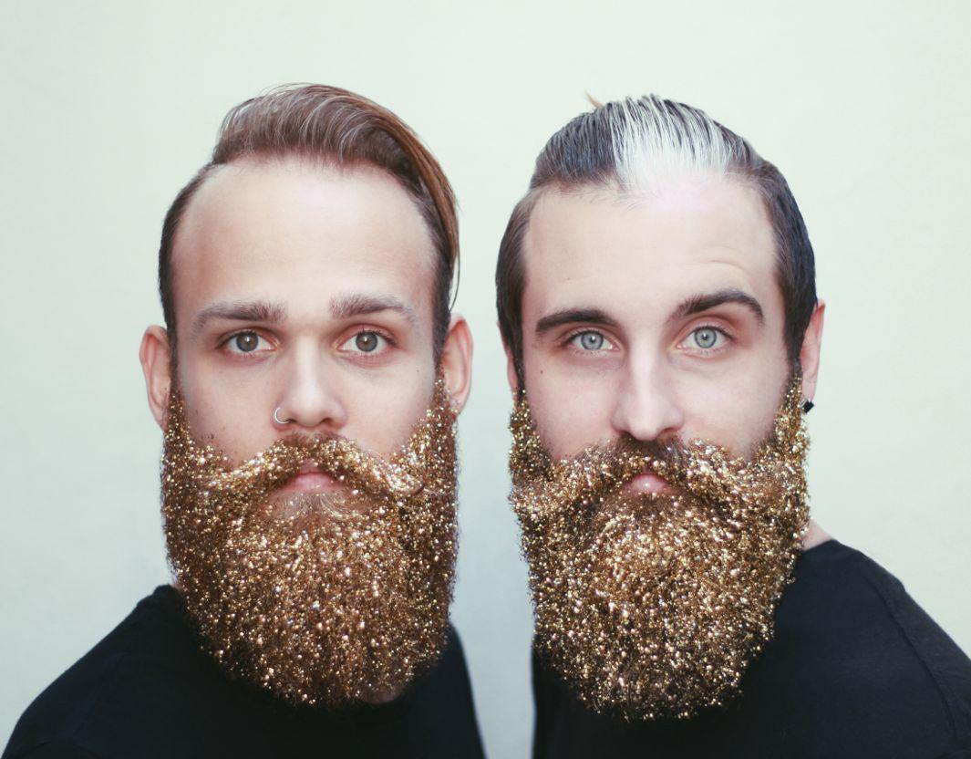 best friends brian and johnathan of the gay beards want you to glitter bomb your ironic facial hair in the spirit of the holiday season - Christmas Beard