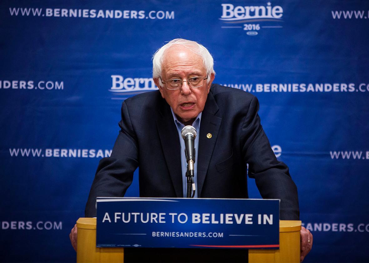 Democratic presidential candidate Sen. Bernie Sanders.