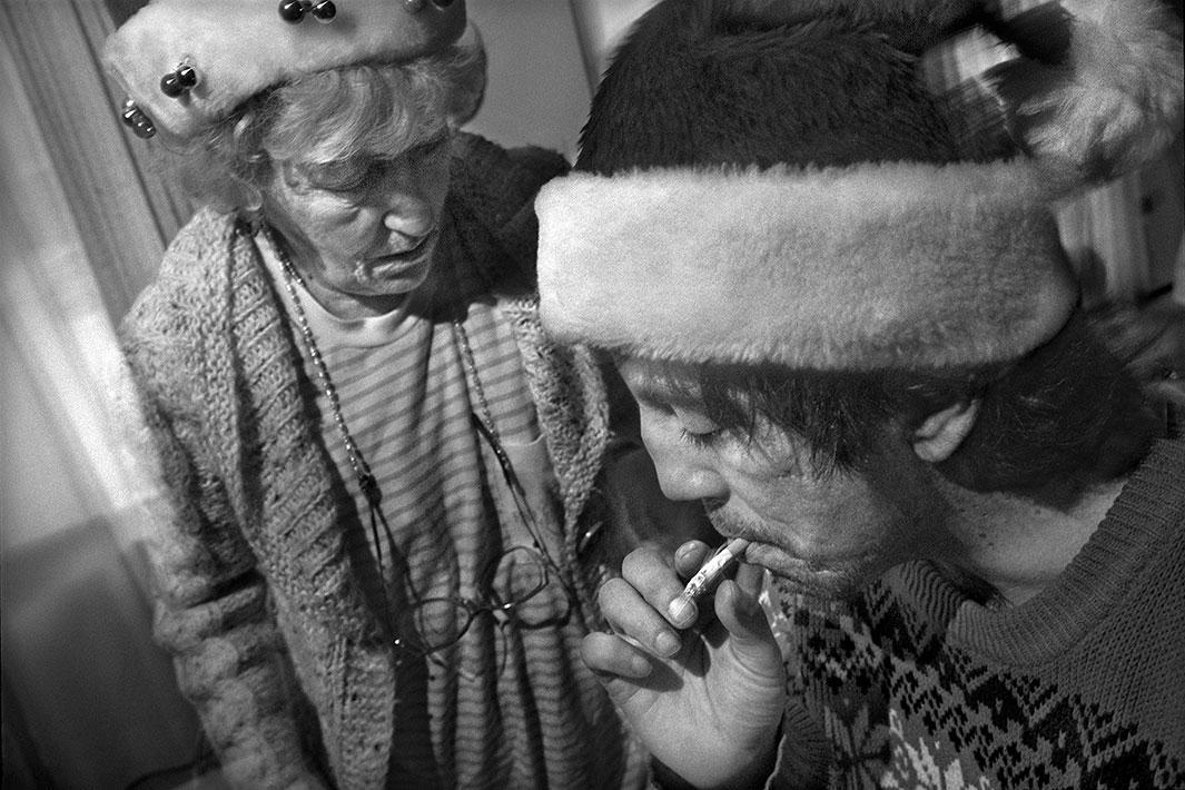 Christmas, 1987, with Bob