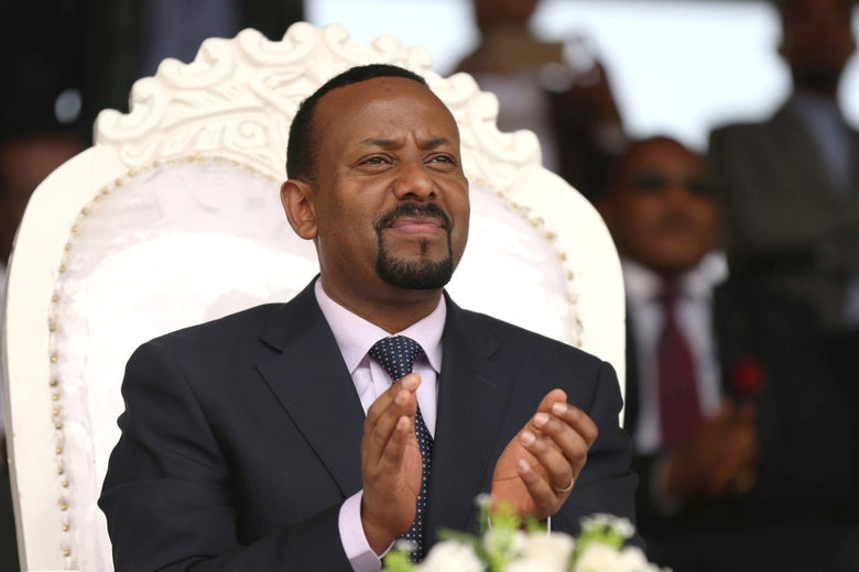 Ethiopian Prime Minister Abiy Ahmed in the Oromiya region, Ethiopia April 11, 2018.