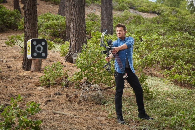 Jeremy Renner Is Wonderfully Bad at Pretending to Go Camping
