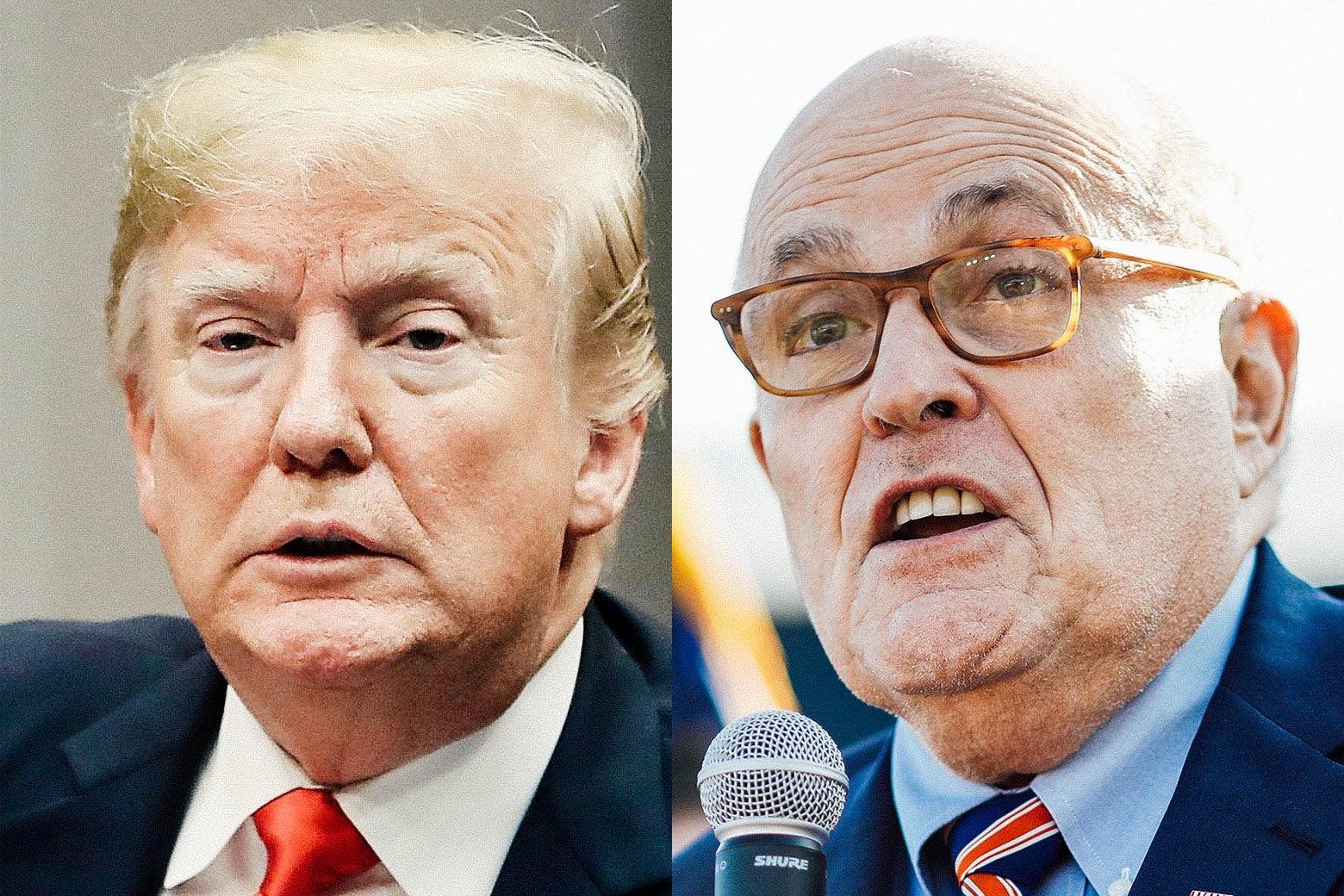 Donald Trump, Rudy Giuliani.