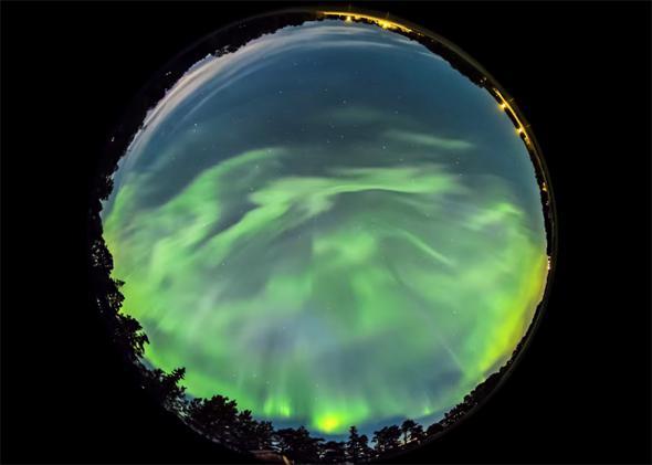 Aurora: Intense activity seen in Sweden.