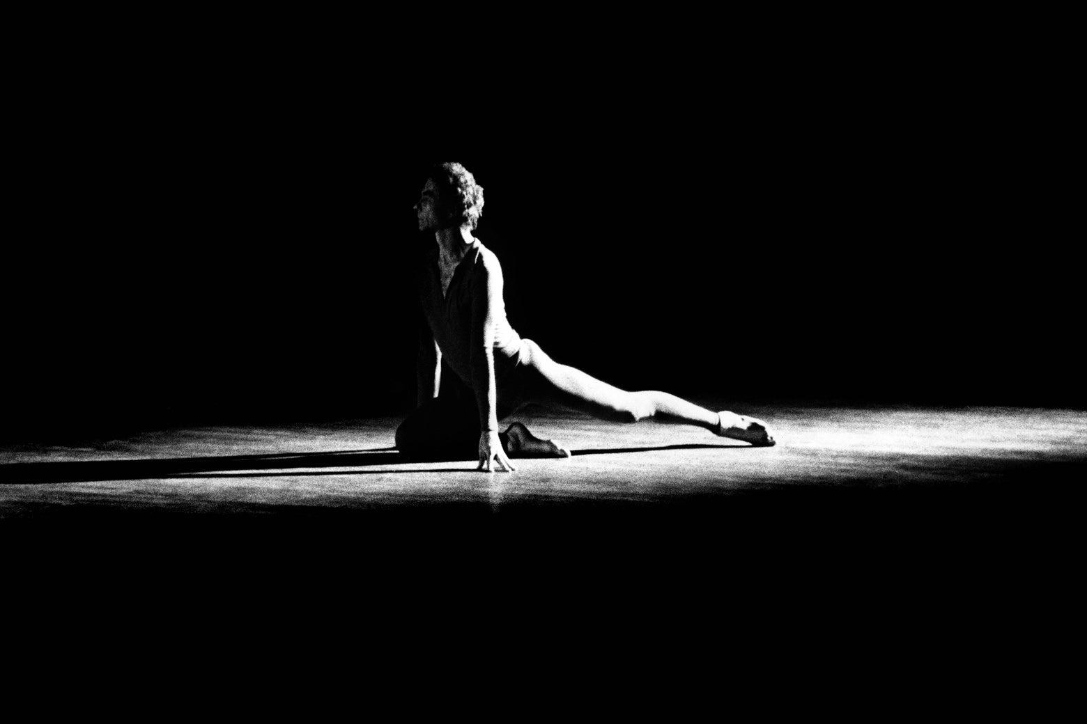 Merce Cunningham performing in 1972.
