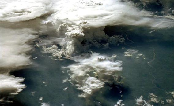 Aerosol particles can have multiple effects on clouds, which affect the climate indirectly.