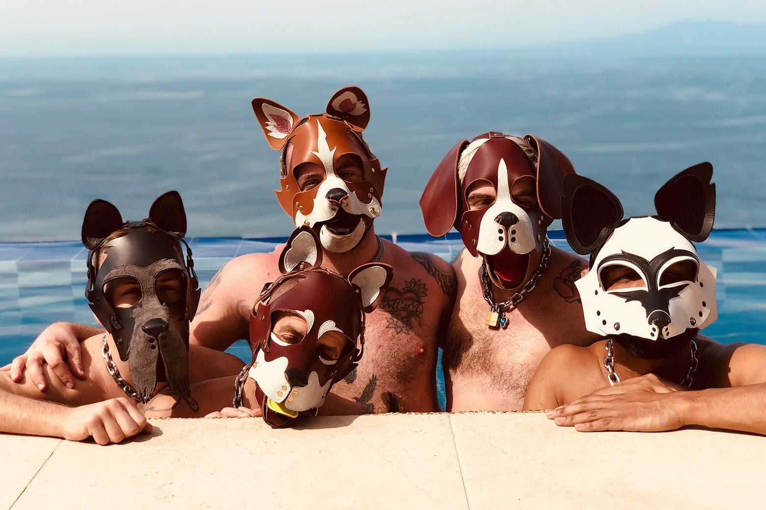 Members of the Fog City Pack at their retreat.