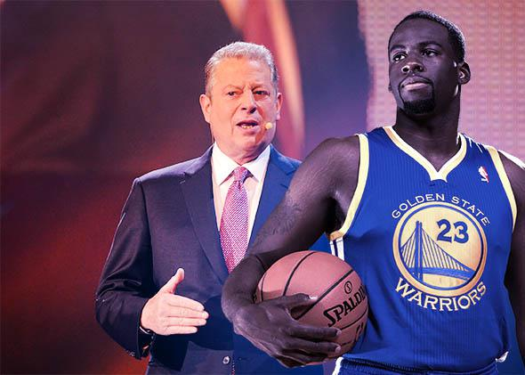 Al Gore and Draymond Green.