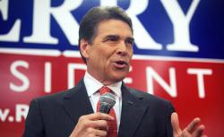 Republican presidential candidate, Texas Gov. Rick Perry speaks with potential voters in Iowa.