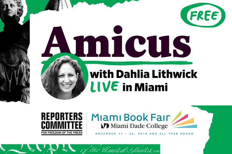 Description for Amicus at the Miami Book Fair