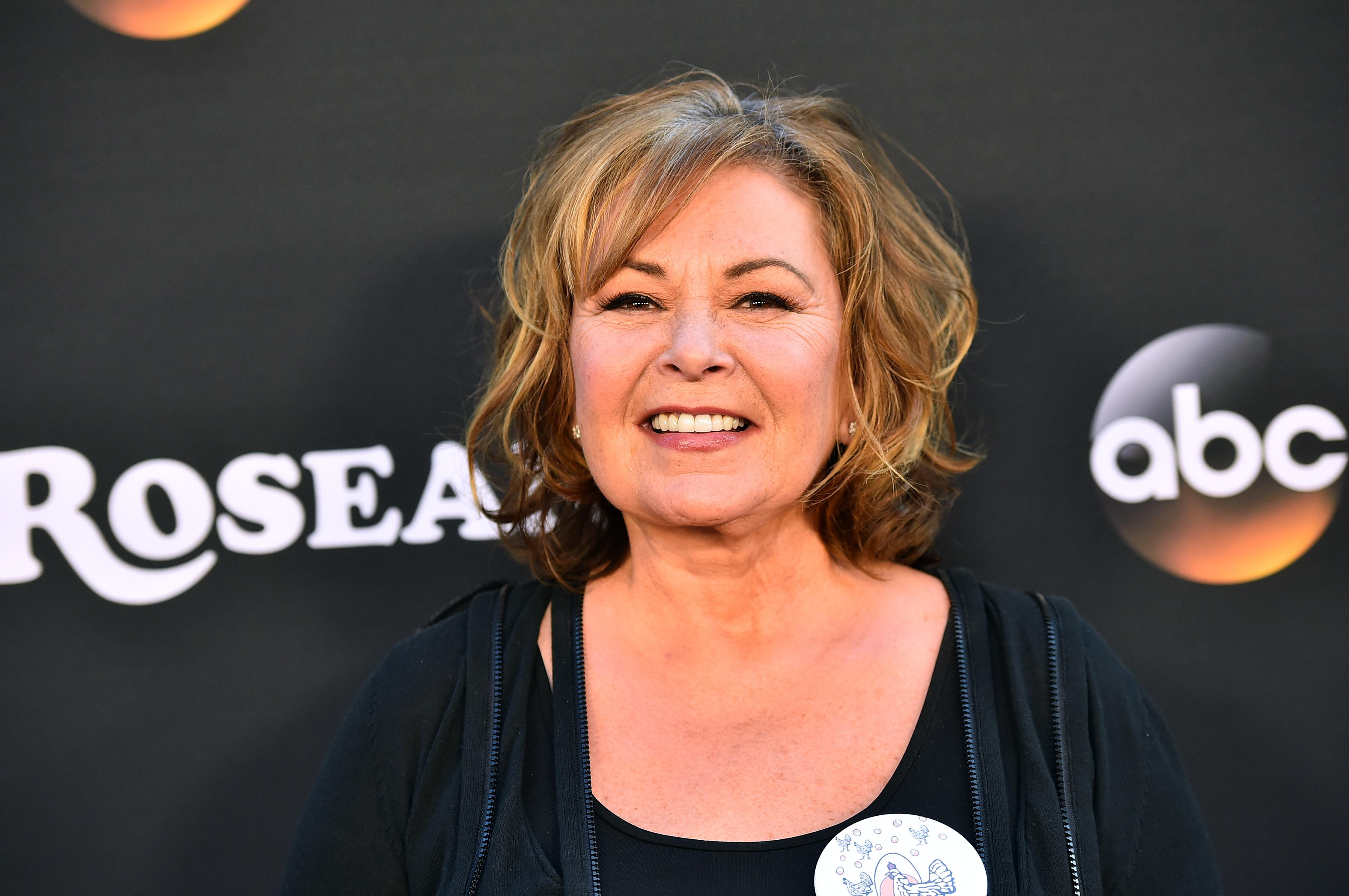 Roseanne Barr at the premiere of ABC's Roseanne on March 23, 2018 in Burbank, California.