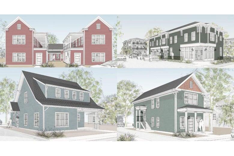 Four different housing designs