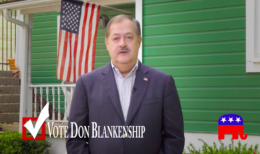 A screenshot from Don Blankenship's new campaign ad.