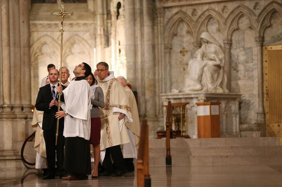 Mass for the Election of a New Pope begins at Saint Patrick's Cathedral on February 28, 2013 in New York City.
