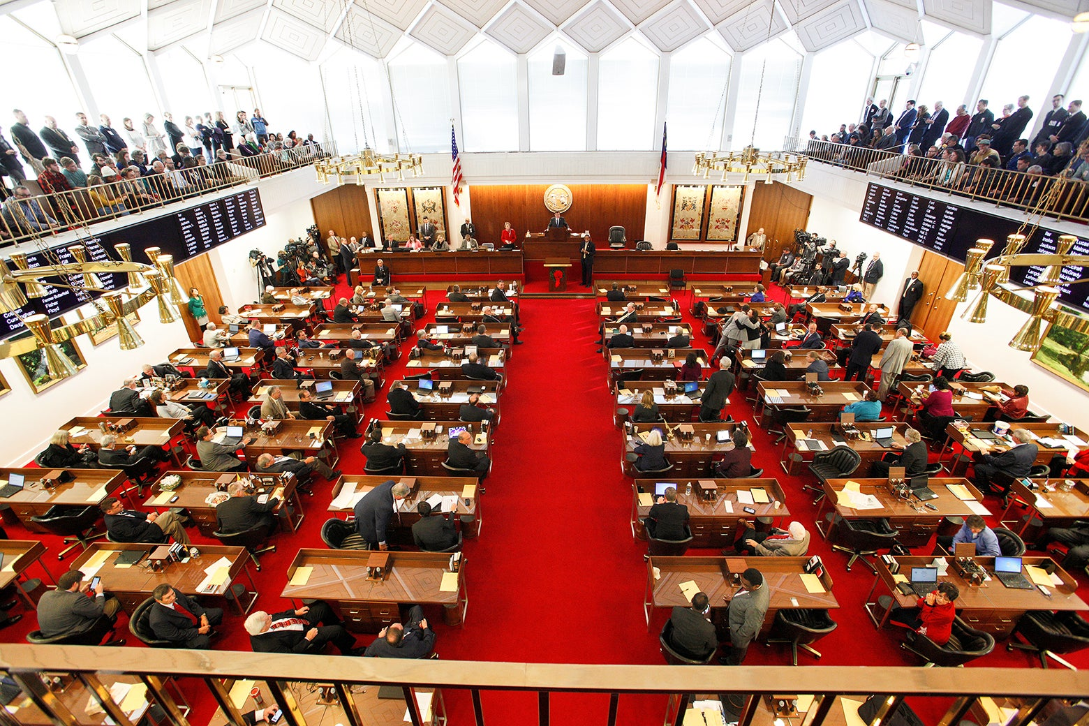 North Carolina's House of Representatives convenes in Raleigh, North Carolina, on Dec. 21, 2016.