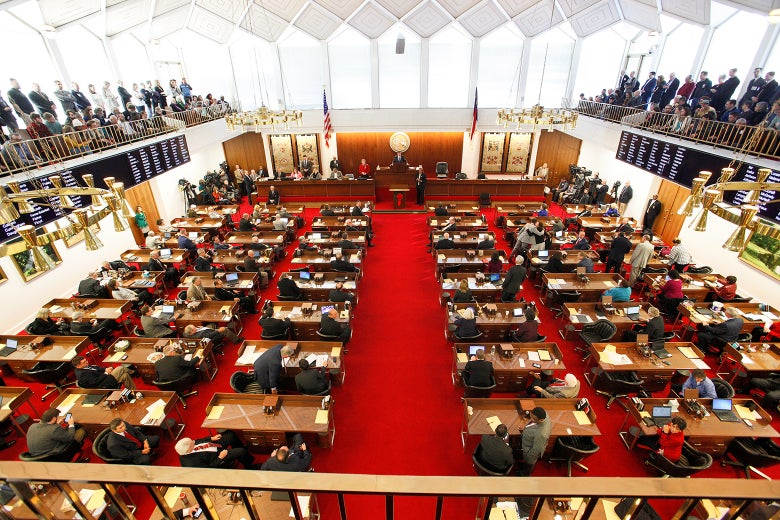 North Carolina's House of Representatives convenes in Raleigh, North Carolina, on Dec. 21, 2016.