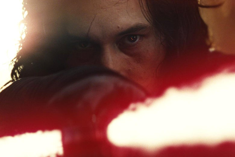 Adam Driver as Kylo Ren in Star Wars: Episode VIII - The Last Jedi.