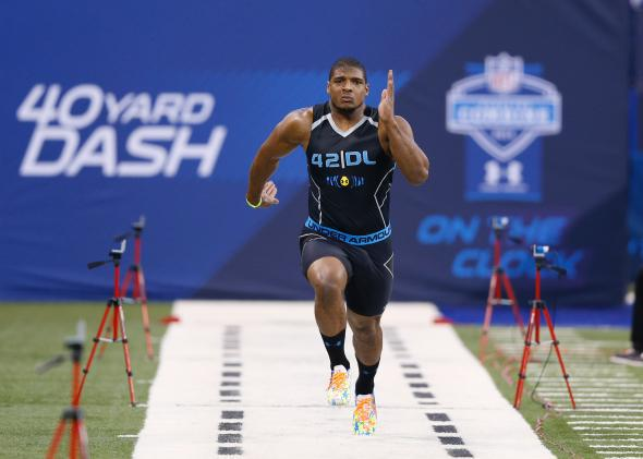Michael Sam at the 2014 Combine