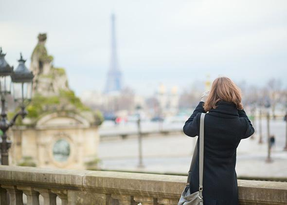 A tourist in Paris.