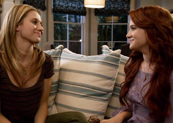 Rita Volk and Katie Stevens in Faking It