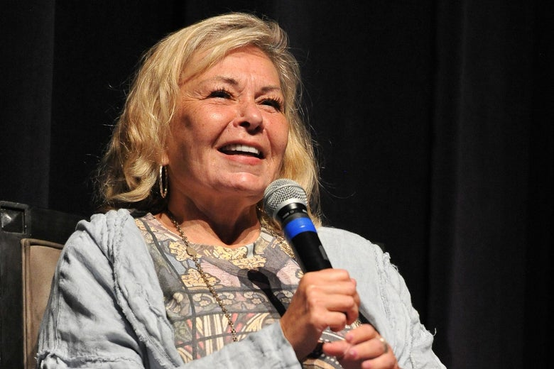 Roseanne Barr on stage.