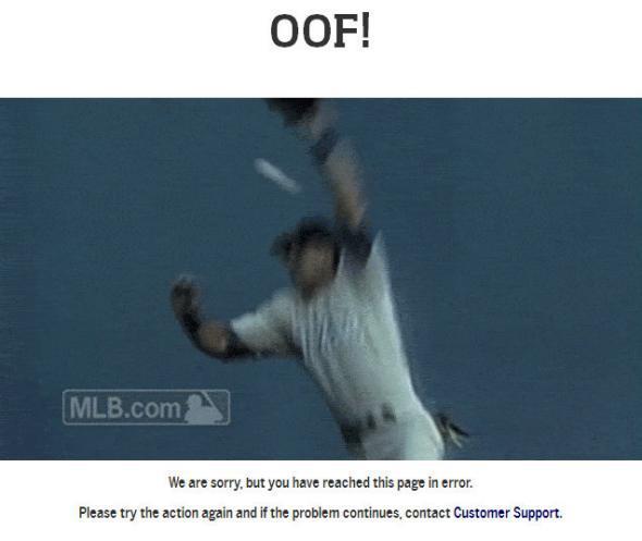 MLB.com error page