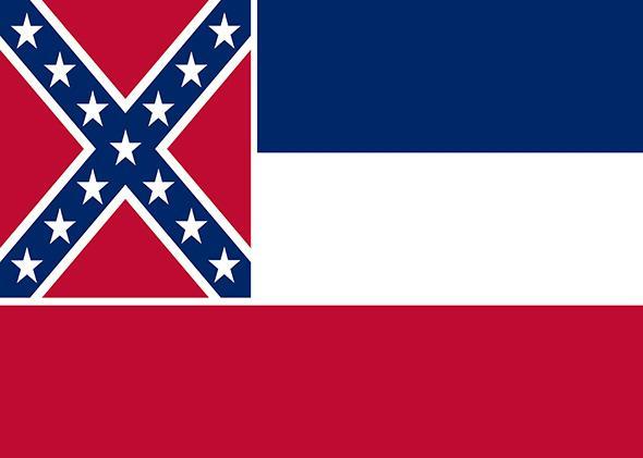 The flag of Mississippi.