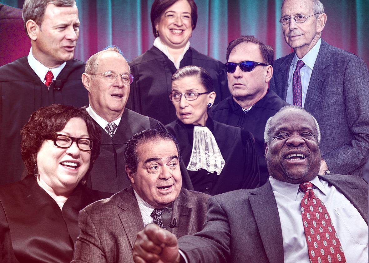 Supreme Court Justices John Roberts, Elena Kagan, Stephen Breyer, etc.