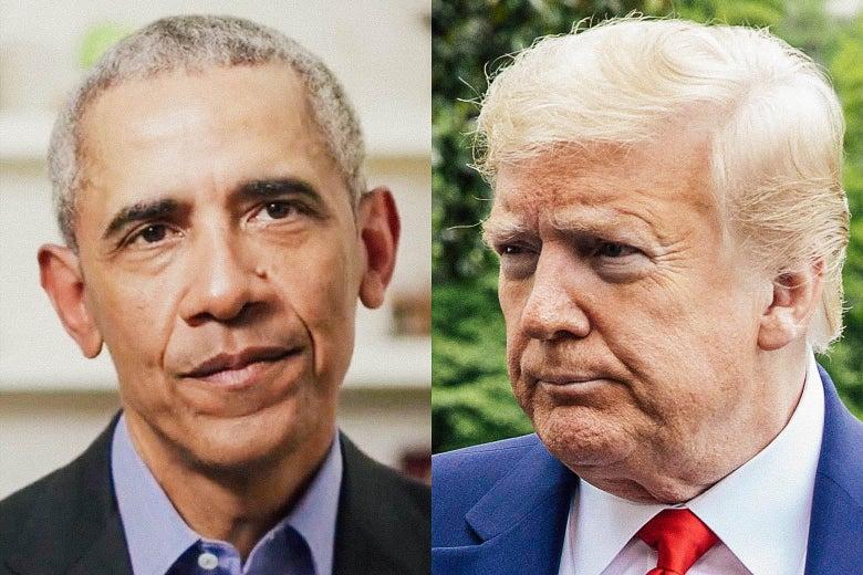 Barack Obama and Donald Trump.