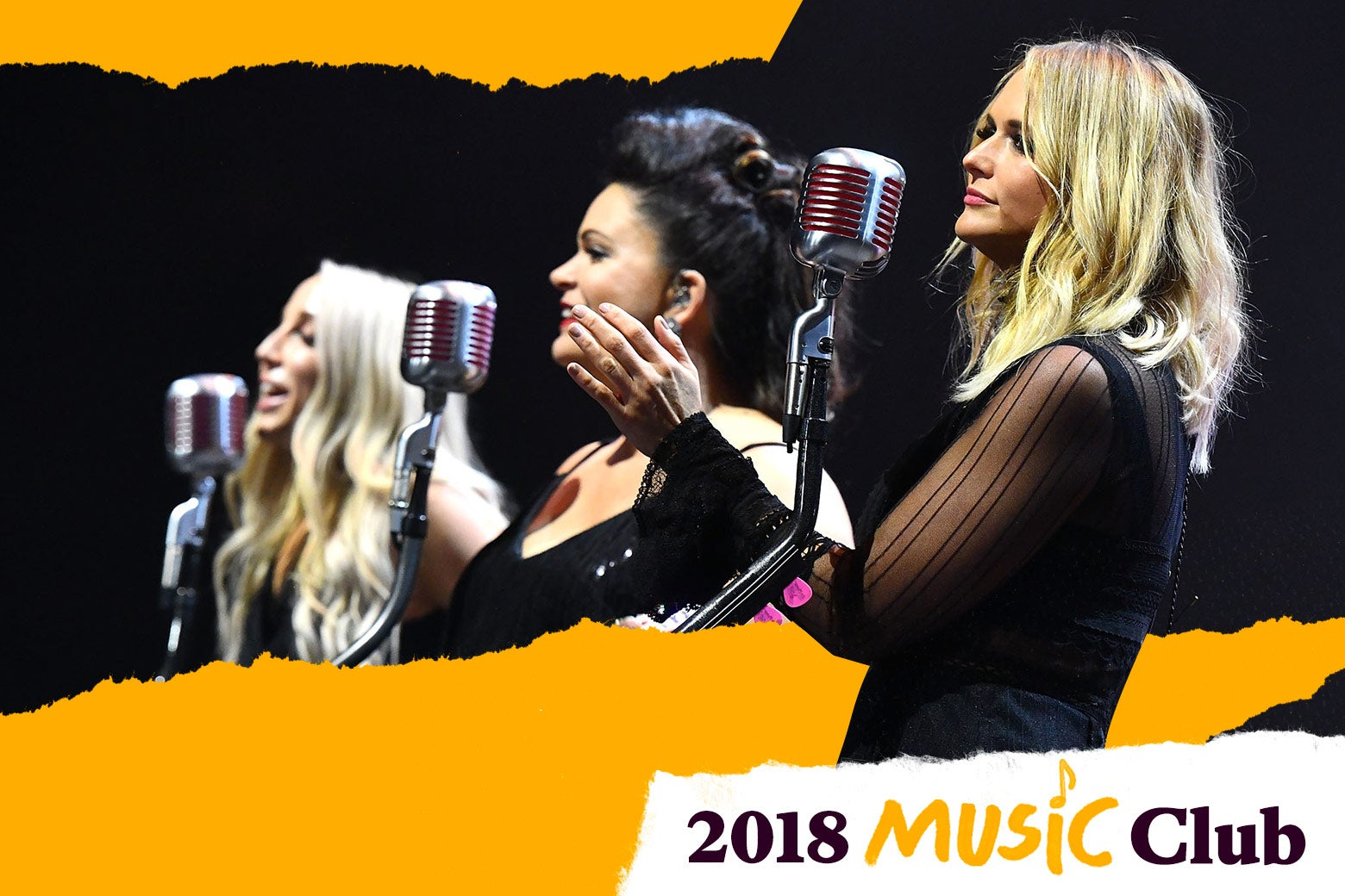 Miranda Lambert, Ashley Monroe, and Angaleena Presley of the Pistol Annies.