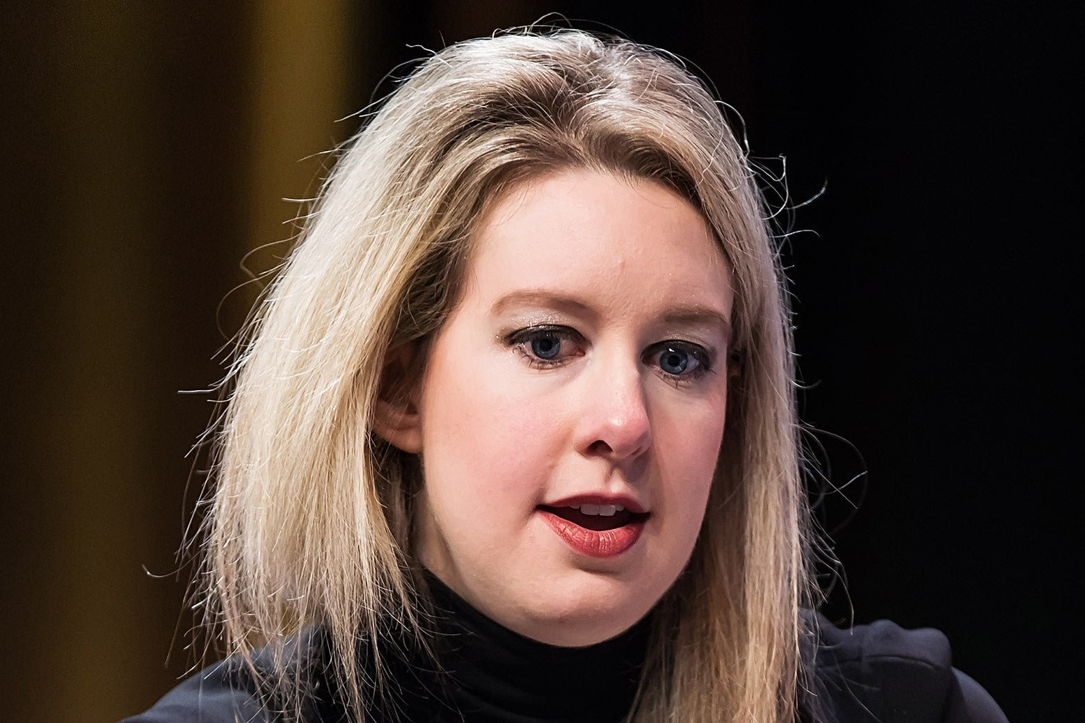 Elizabeth Holmes attends the Forbes Under 30 Summit on Oct. 5, 2015, in Philadelphia.