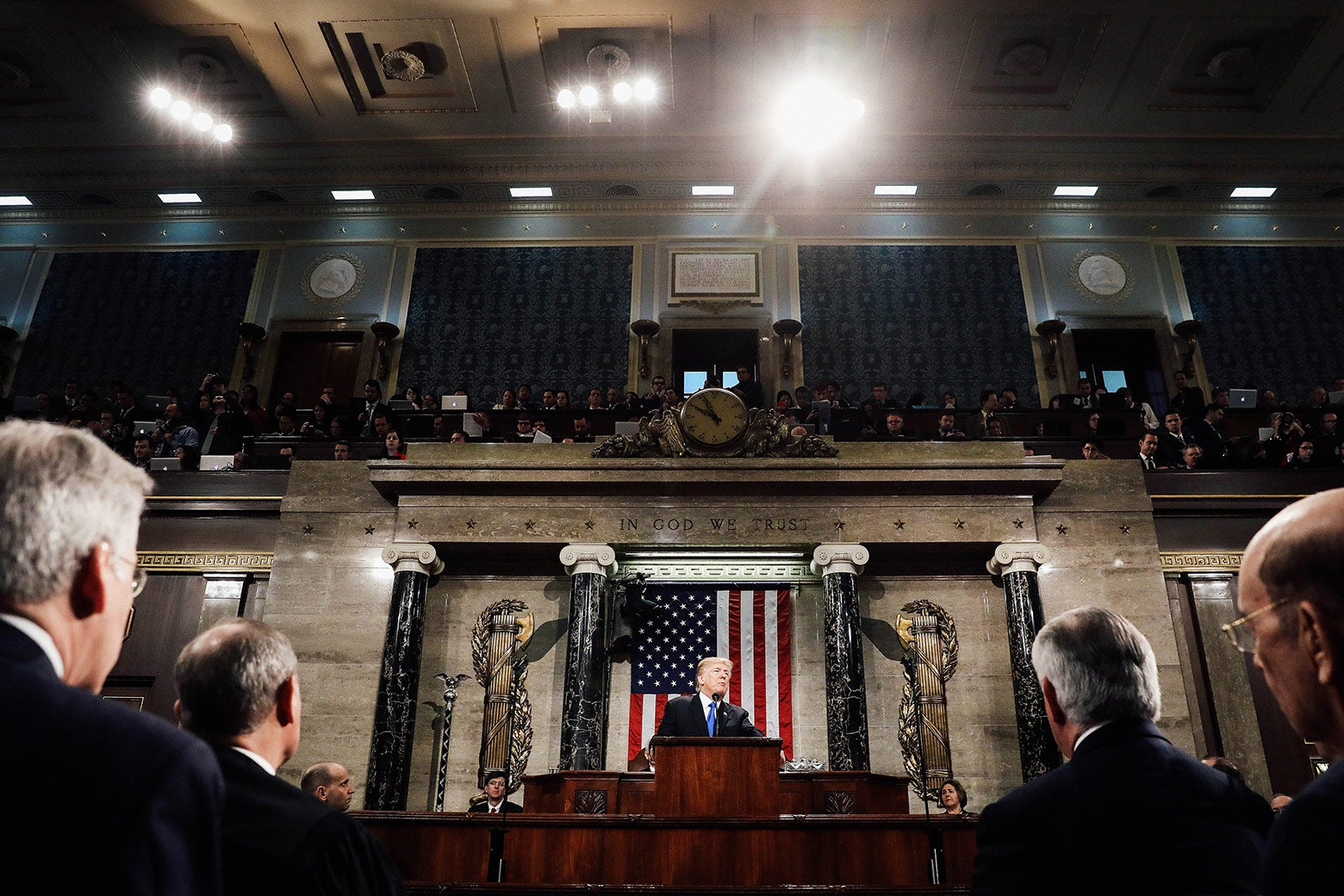 President Donald Trump delivers the State of the Union address on Capitol Hill on Tuesday in Washington.