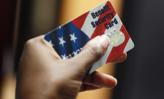 Federal food stamps card.