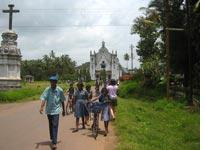 Goa, a former Portuguese colony, is filled with churches