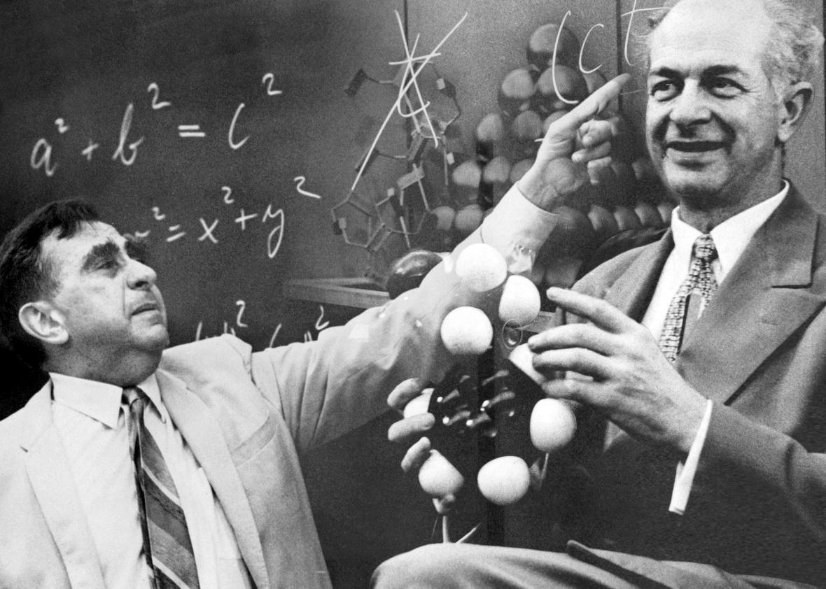 Edward Teller and Linus Pauling