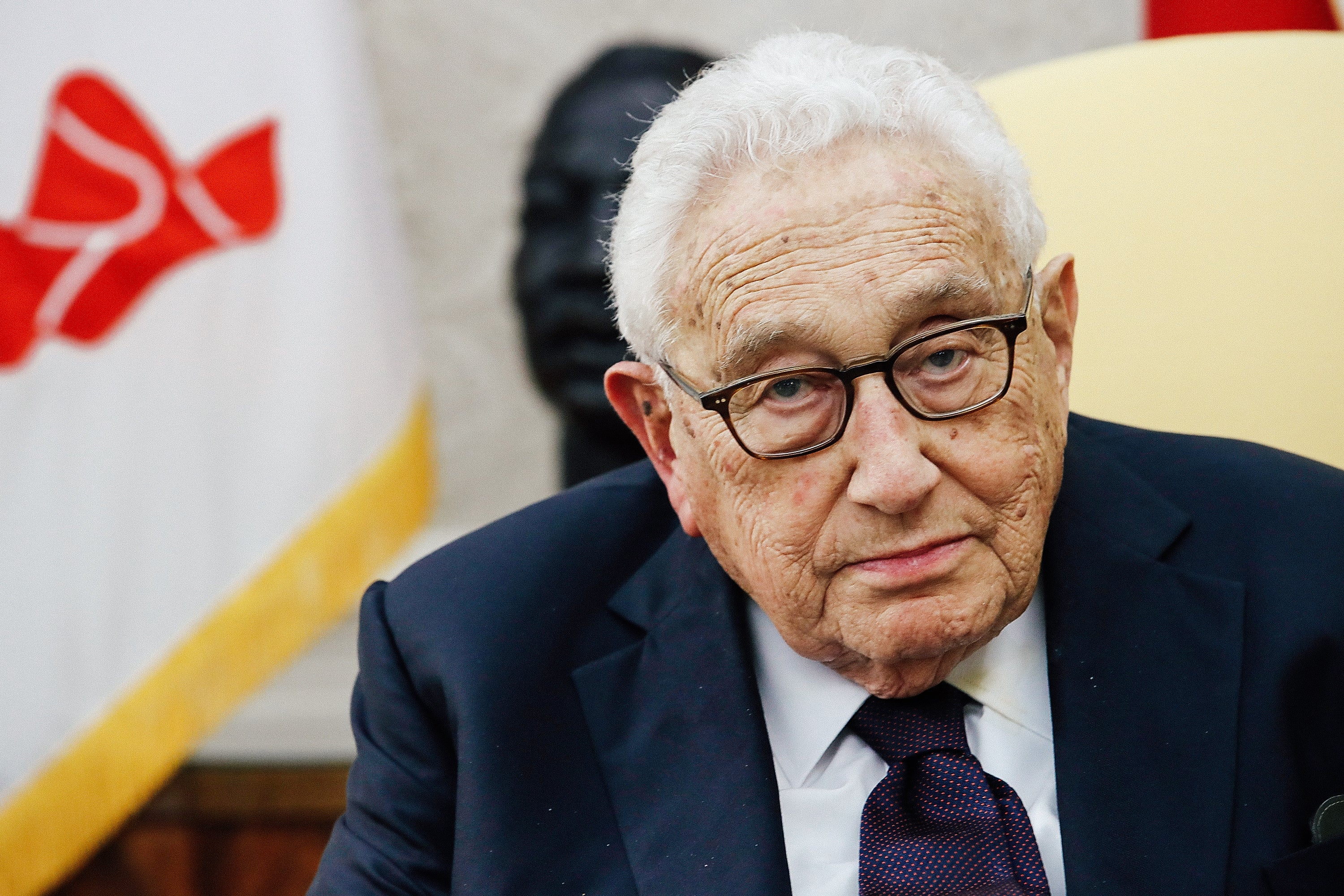Former Secretary of State Henry Kissinger meets with President Donald Trump in the Oval Office on Oct. 10, 2017, in Washington.