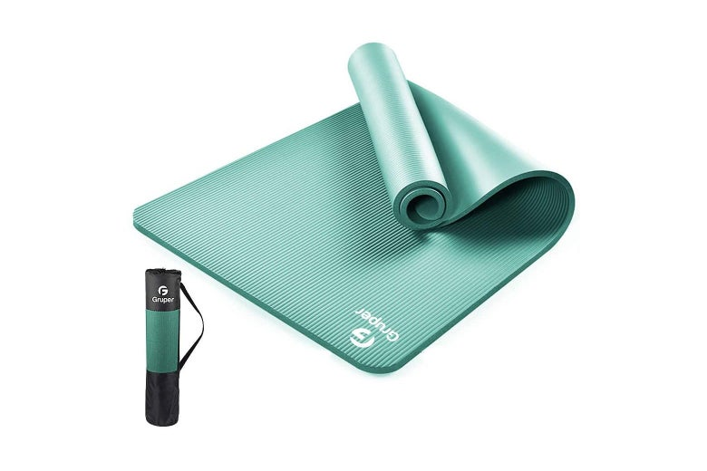 Thick yoga mat with carrying case