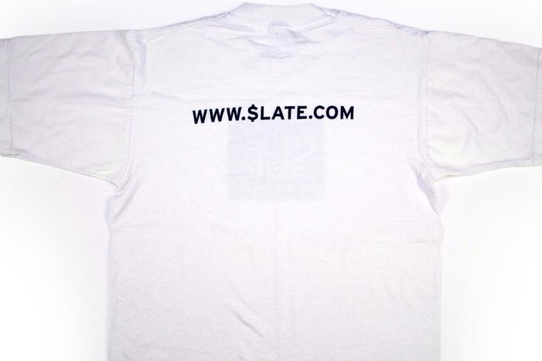 """T-shirt with text reading """"www.$late.com"""""""