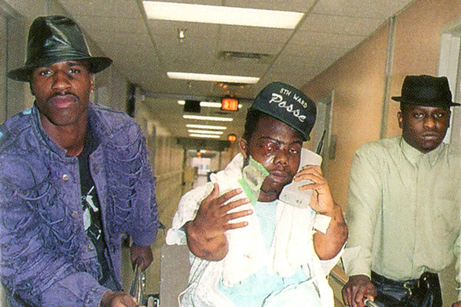 The cover of the Geto Boys' 1991 album We Can't Be Stopped.