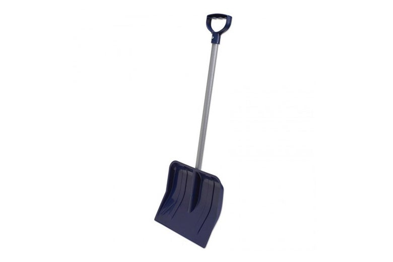 A child-size snow shovel.