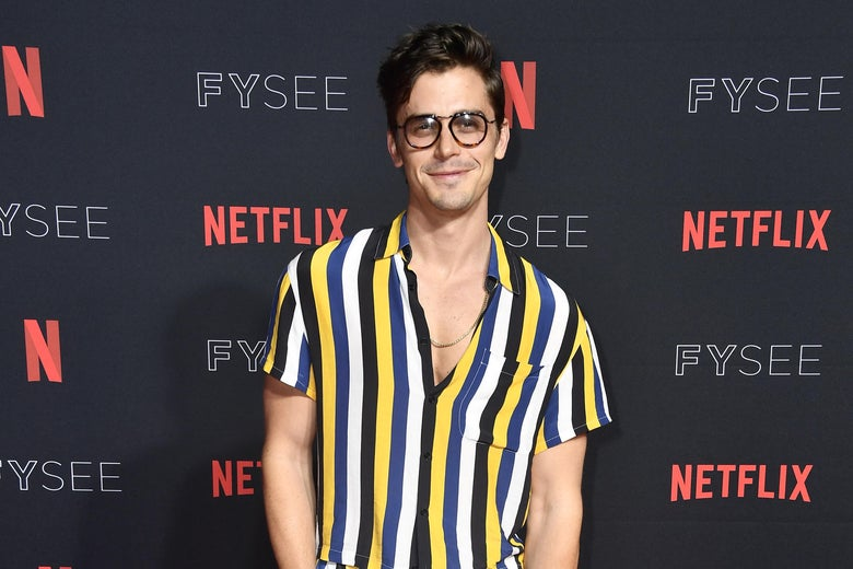 Antoni Porowski on the red carpet at a Netflix FYSee event in Los Angeles on May 31.