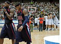 LeBron James and Carmelo Anthony. Click image to expand.