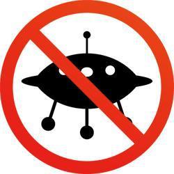 Symbol representing no UFOs