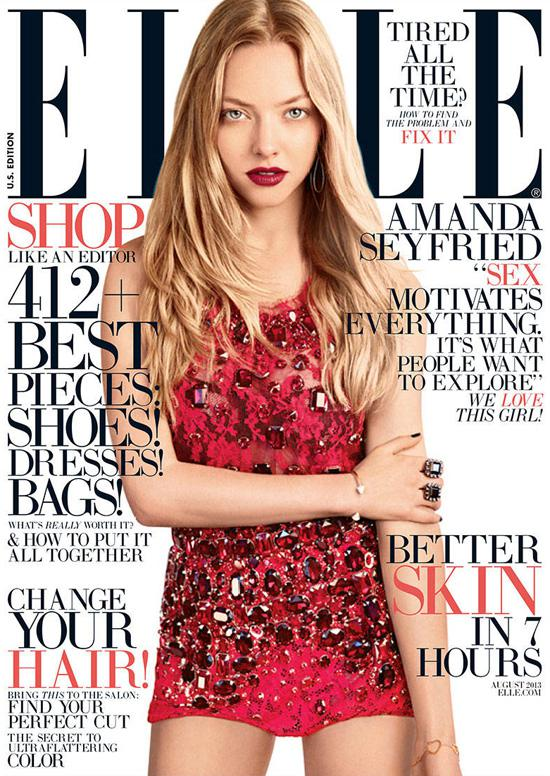 August 2013 cover of Elle Magazine.