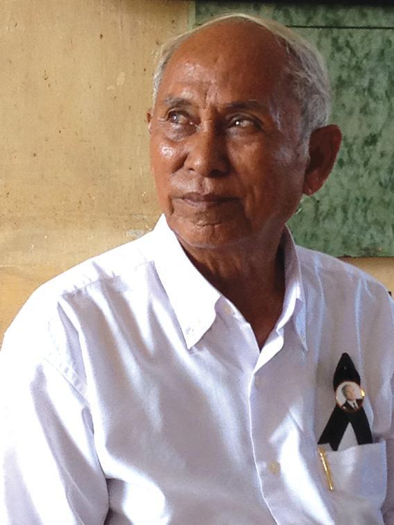 Chum Mey, survivor of the genocide.