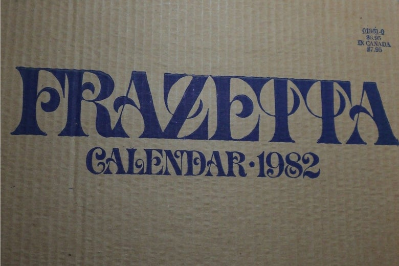 The box to the Frank Frazetta calendar from 1982.