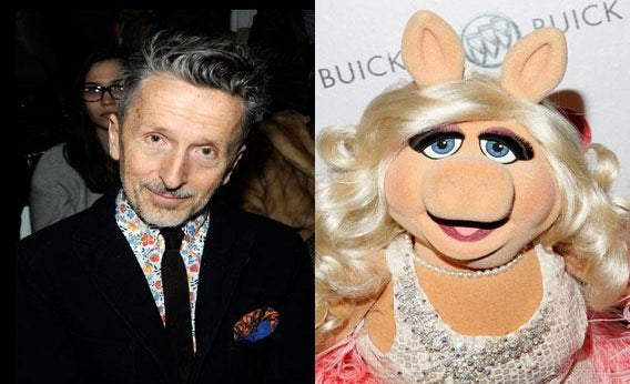 Simon Doonan and Miss Piggy.