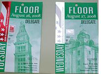Yesterday's credential (left) and today's